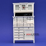 Medical doctor dentist cabinet Fine Quality WHITE for dollhouse miniature 1:12 scale